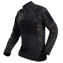 Multicam Black Camouflage Tactical Shirt Military Army Combat Shirts Camo Men Long Sleeve Quick Dry Outdoor Hiking Hunting Shirt