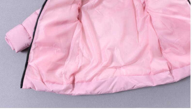 ילדי נער חם חורף מעיל בנות ברדס ילדי בנות חורף מעיל כותנה מרופדת Parka ילדים של בגדים