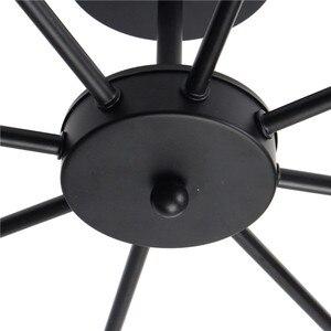 Image 5 - Smuxi 85 265V E27 נברשות אור בציר תעשייתי אדיסון 8 אורות נברשת מתקן שחור לבן לא כלול הנורה