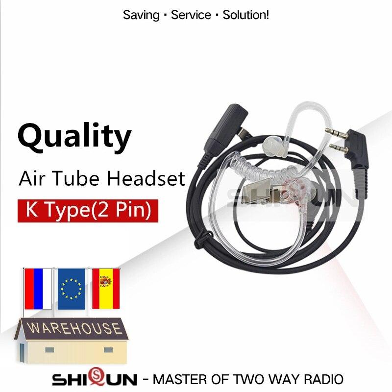 Walkie Talkie PTT MIC Earpiece For KENWOOD BAOFENG UV-5R Accessories BF-888s UV-82 TG-UV2 Plus Acoustic Headset Air Tube UV-5RA