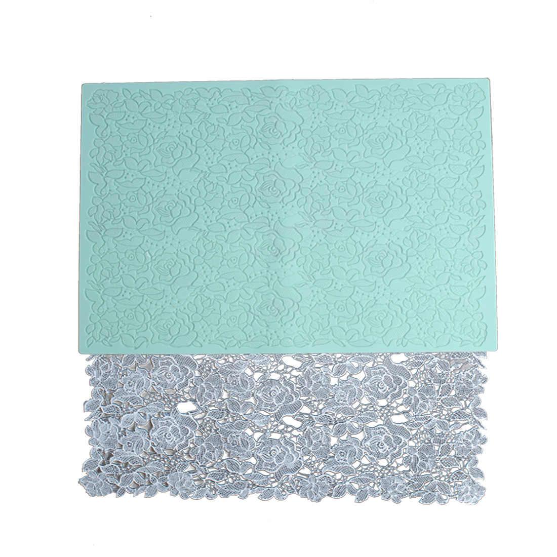 שרף תבניות סיליקון עלה תחרה כרית עובש עיצוב DIY UV בטון תכשיטי אביזרי 3d קיר פנל יצק חימר עובש
