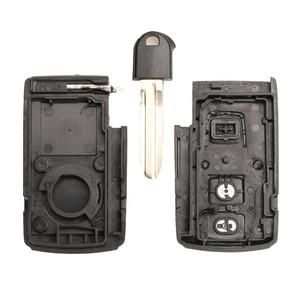 Image 5 - Jingyuqin capa para chave de carro, boa qualidade, 2/3 botões, controle remoto, inteligente, para toyota prius corolla, versão toy43, lâmina sem cortes