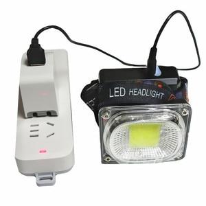 Image 5 - COB Làm Đèn Pha LED Cắm Trại Đèn Pin Đèn Sạc USB Đèn Pha Đỏ Xanh Trắng Chế Độ Ánh Sáng Use18650 Pin Chiếu Sáng Đèn Pin