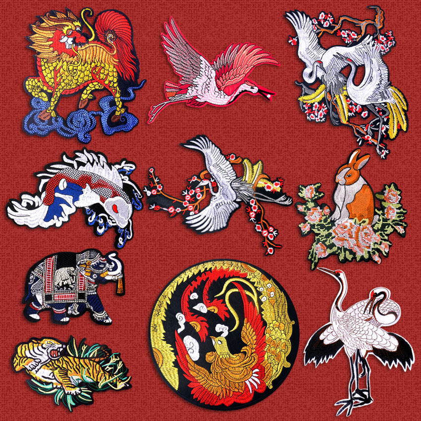 1pcs/Set Tiger Sewn On/Iron On Patch Diy Crafts Stiker For Jeans Bag Clothes Accessories Badges Sewn In Cowboy Coats, Shirts