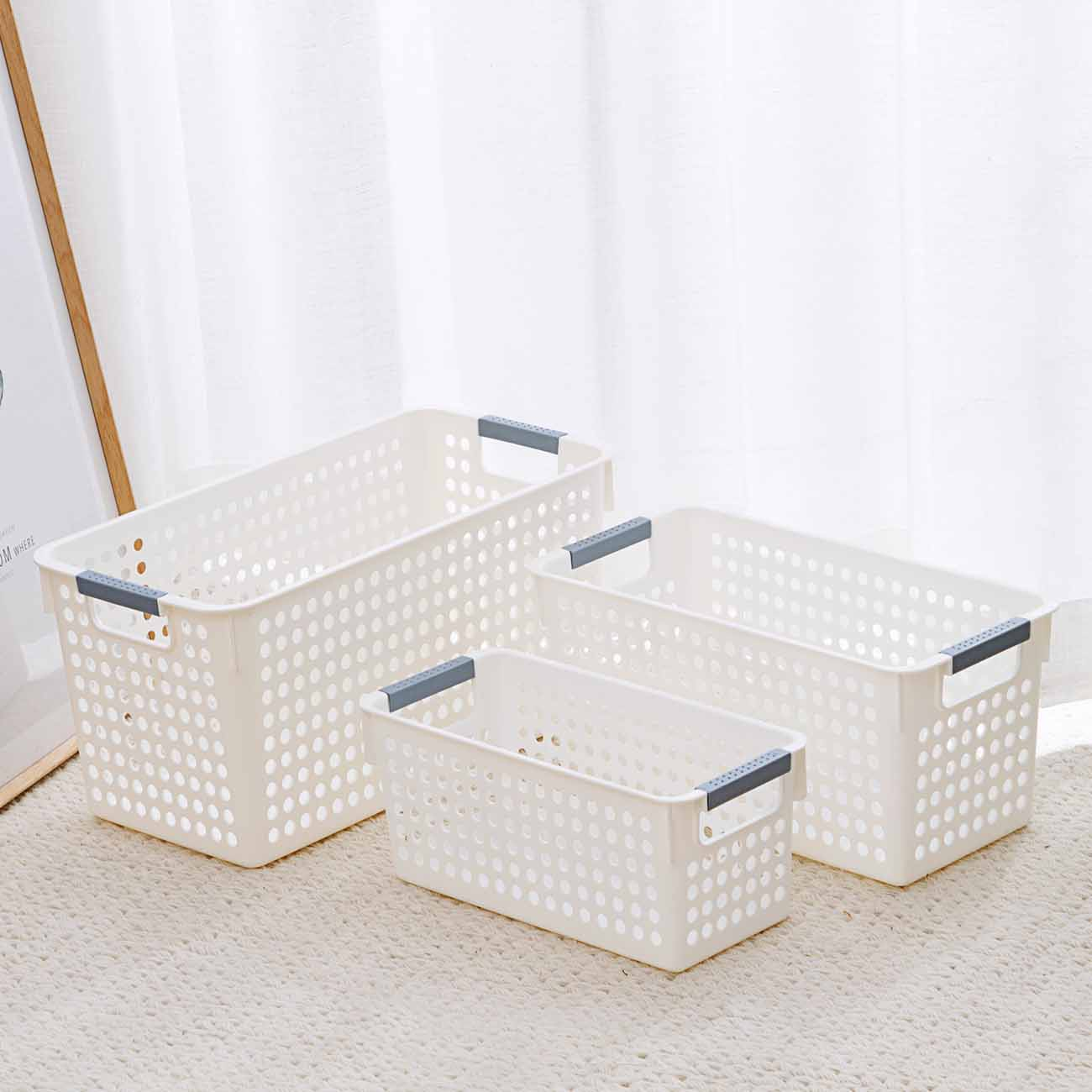 Shower Bath Basket Portable Storage Basket Makeup Organizer Snacks Toy Basket Box Case Kitchen Organizer Bathroom Accessories