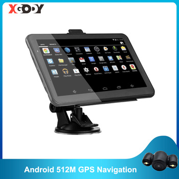 XGODY Android 7 Inch Car GPS Navigation 2 in 1 Tablet PC 16GB WiFi Auto GPS Car Navigator 2020 Europe Map 2019 Russia Navitel 10 1 inch official original 4g lte phone call google android 7 0 mt6797 10 core ips tablet wifi 6gb 128gb metal tablet pc