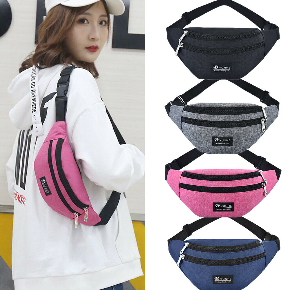 2019 Travel Bum Bag Fanny Pack Waist Bag Zipped Outdoor Sports Shoulder Bag Pouch Unisex Waist Packs Unisex Waist Pack