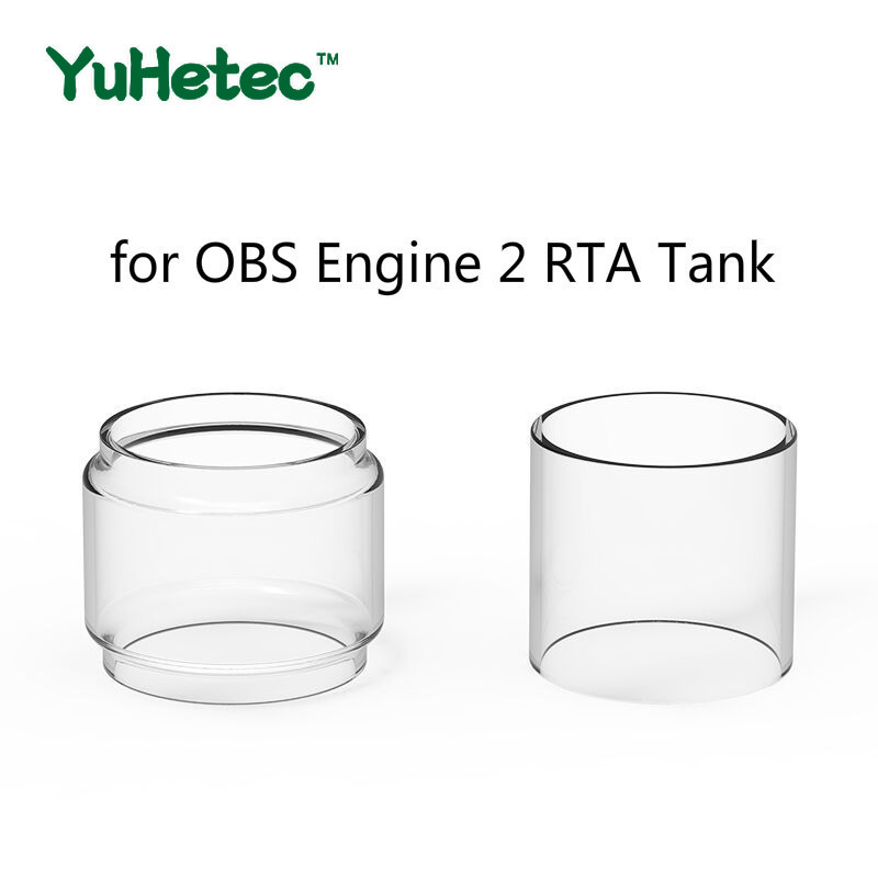 5pcs YUHETEC Replacement Straight  Glass Tube /fatboy Glass Tube  For OBS Engine 2 RTA Tank 5ml