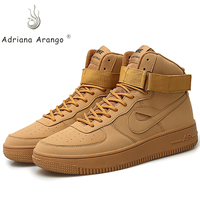 Adriana 2019 High top Basketball Sneaker for Men and Women Size 4.5 9.5 Khaki Sport Shoes for Boy and Girl Gym Training Boots