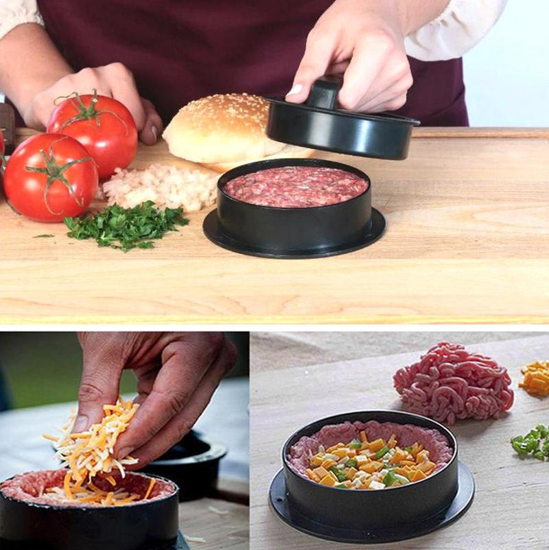 Hamburger Meat Press Meatloaf Non-stick Round Shape Cutlets Meat Press Combination Hamburg Making Tools image