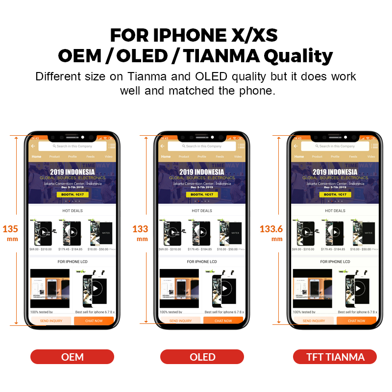 For iPhone X LCD BEST OEM For iPhone XS/XS Max/XR Display With 3D Touch Screen Digitizer Assembly Replacement For iPhone 11 LCD