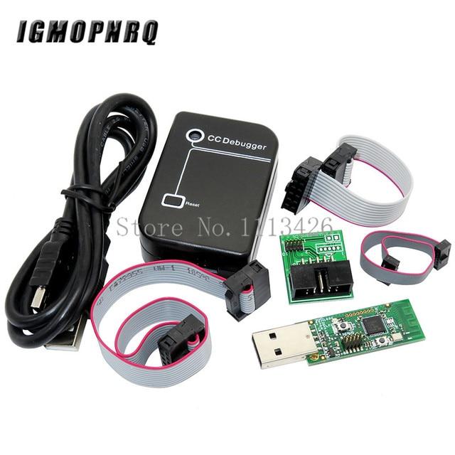 ZIGBEE Depurador de CC emulador CC2531, CC2540, Sniffer, tablero inalámbrico, Bluetooth 4,0, Dongle Capture PROGRAMADOR USB, Cable de descarga