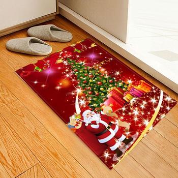 חג המולד אמבטיה מחצלת חג המולד מחצלות סלון חדר החלקה שטיח חג המולד קישוטי מדהים דפוס צבע