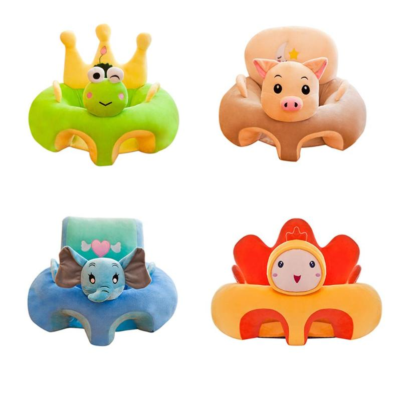 Colorful Baby Learning Sitting Seat Sofa Cover Baby Plush Toys No Liner
