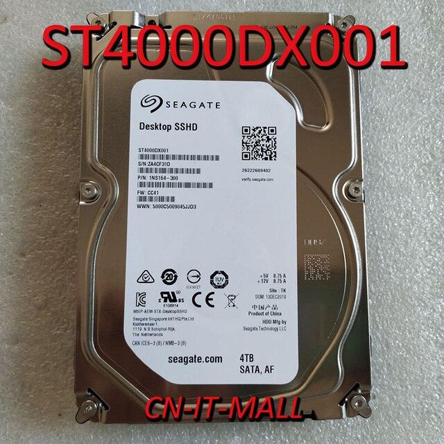 """Seagate escritorio SSHD ST4000DX001 4TB 64MB caché SATA 6,0 Gb/s 3,5 """"Disco híbrido de estado sólido"""