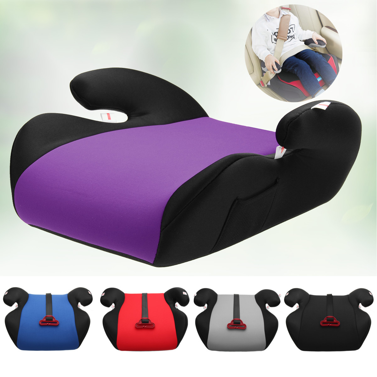 Multi-color Car Non-slip Booster Seat Safe Sturdy Kids Children Child Baby Increased Seat Pad Fits 6-12 Years Old