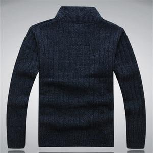 Image 4 - גברים של חורף סוודר מזדמן סרוג קרדיגן מעילי עבה חם בגדי קשמיר סוודר מעילי הלבשה עליונה זכר לסרוג סוודר
