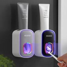 GURET-exprimidor automático de pasta de dientes, dispensador de pasta dental de plástico fácil, soporte de montaje en pared para inodoro, hogar, juegos de accesorios de baño