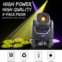 Moving Head 100W LED Lyre Spot Lights By 512DMX Control 14Gobos And 7colors With 5 Face Prism Beam Effect For DJ Disco Wedding