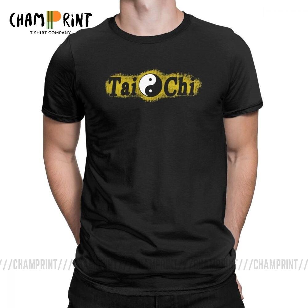 Tai Chi Chuan Pa Kua Yin Yang мужская футболка Новинка футболки с коротким рукавом футболки с круглым вырезом хлопок Новое поступление Топы
