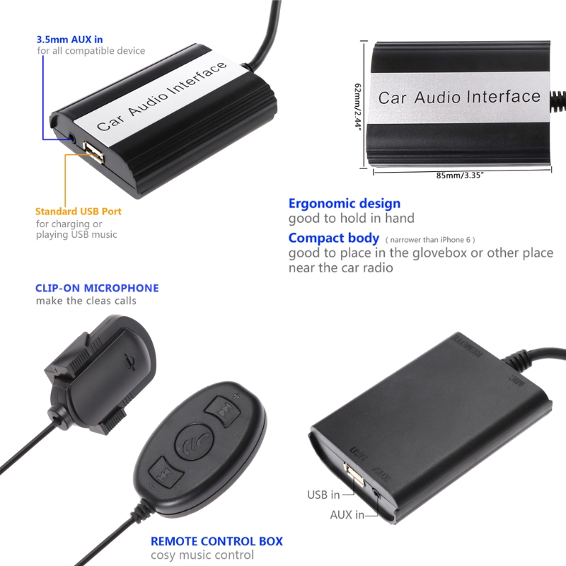 Handsfree Car Bluetooth Kits MP3 AUX Adapter Interface For Toyota Lexus on