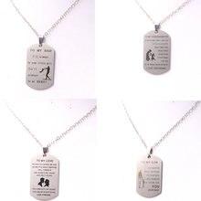 Популярное ожерелье с подвеской биркой из нержавеющей стали