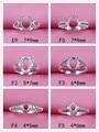 Пустая основа для кольца, пустая основа для изготовления ювелирных изделий из стерлингового серебра 925 пробы, огранка для драгоценных камне...
