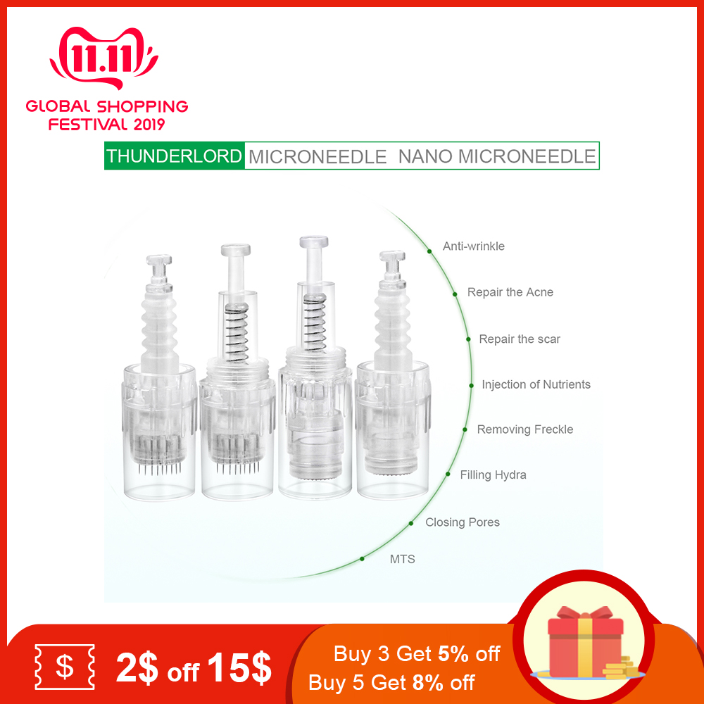 10/20/50pcs Tattoo Pen Nano MYM Needles Tip Microneedling 9 Pin/12 Pin/36 Pin/42Pin Bayonet Screw Port Cartridge Tattoo Needles