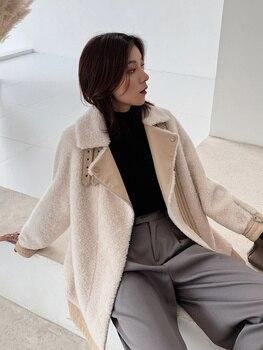 Chaqueta de lana de 100% para Mujer, ropa de Mujer, Abrigo de...