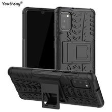 For Samsung Galaxy A41 Case Robot Heavy Duty Shell Funda Coque Hard Protector Case For Samsung Galaxy A41 Cover For Samsung A41 недорого