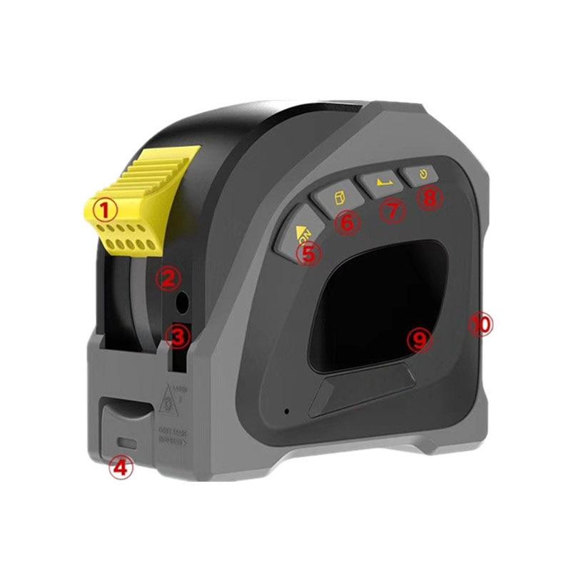 Fita a Laser Medição Mete Instrumento Roulettes Retrátil Fita Digital Eletrônico Mini Trena Laser 40m