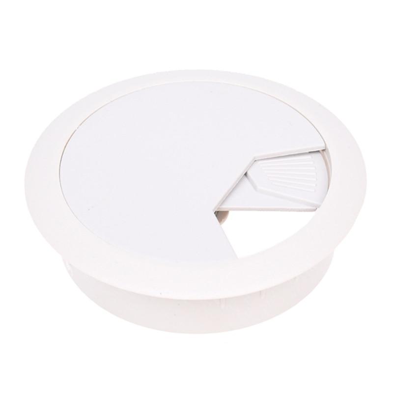 PC Desk Gray Plastic 50mm Diameter Grommet Cable Hole Cover 10 Pcs