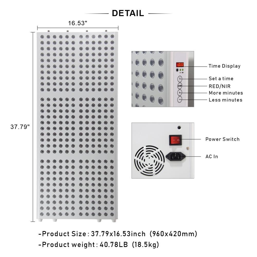 tratamento de corpo inteiro 660nm 850nm led terapia luz vermelha 05