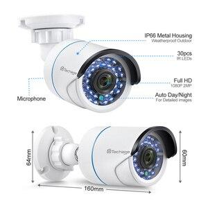 Image 4 - Techage 8CH 1080P LCD ekran monitör POE NVR kiti CCTV sistemi 2MP HD açık güvenlik ses IP kamera P2P video gözetleme seti