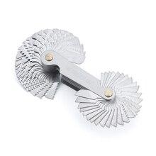 52pcs Blade Screw Thread Tooth Pitch Cutting Steel Gauge Measuring Tool 55 to 60 Degree Metric Gauge Metric Screw Thread Gauge
