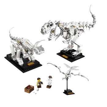 New 910pcs Ideas Jurassic World Museum Dinosaur Fossils Jurassic 21320 Building Blocks Bricks Dino Toys  Lepined 16pcs building blocks avengers world park dino world dinosaur toys model kids bricks christmas gift toys