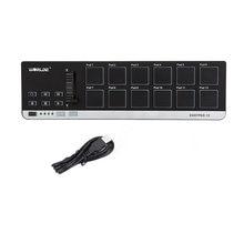 Alta qualidade worlde easypad.12 portátil mini usb 12 tambor almofada midi controlador venda quente 4 bancos para diferentes configurações