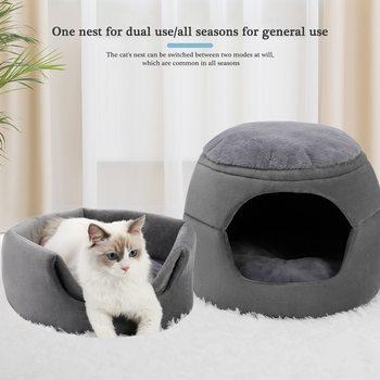 Free Shipping Pet House Dog Cat Kennel Super New Soft Bed Warm Princess House Multifuctional Dog Bed Pad Foldable For Puppy Dog image