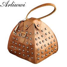 Arliwwi Real Leather Elegant Crossbody Bags For Women Small