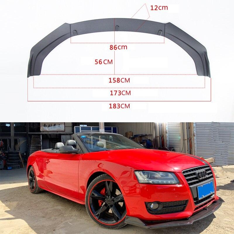 Car Surrounding and Modification General Front Shovel Three Carbon Fiber Lip Head Inclusion Angle
