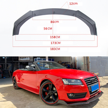 Car Surrounding and Modification General Front Shovel Three Carbon Fiber Lip Head Inclusion Angle