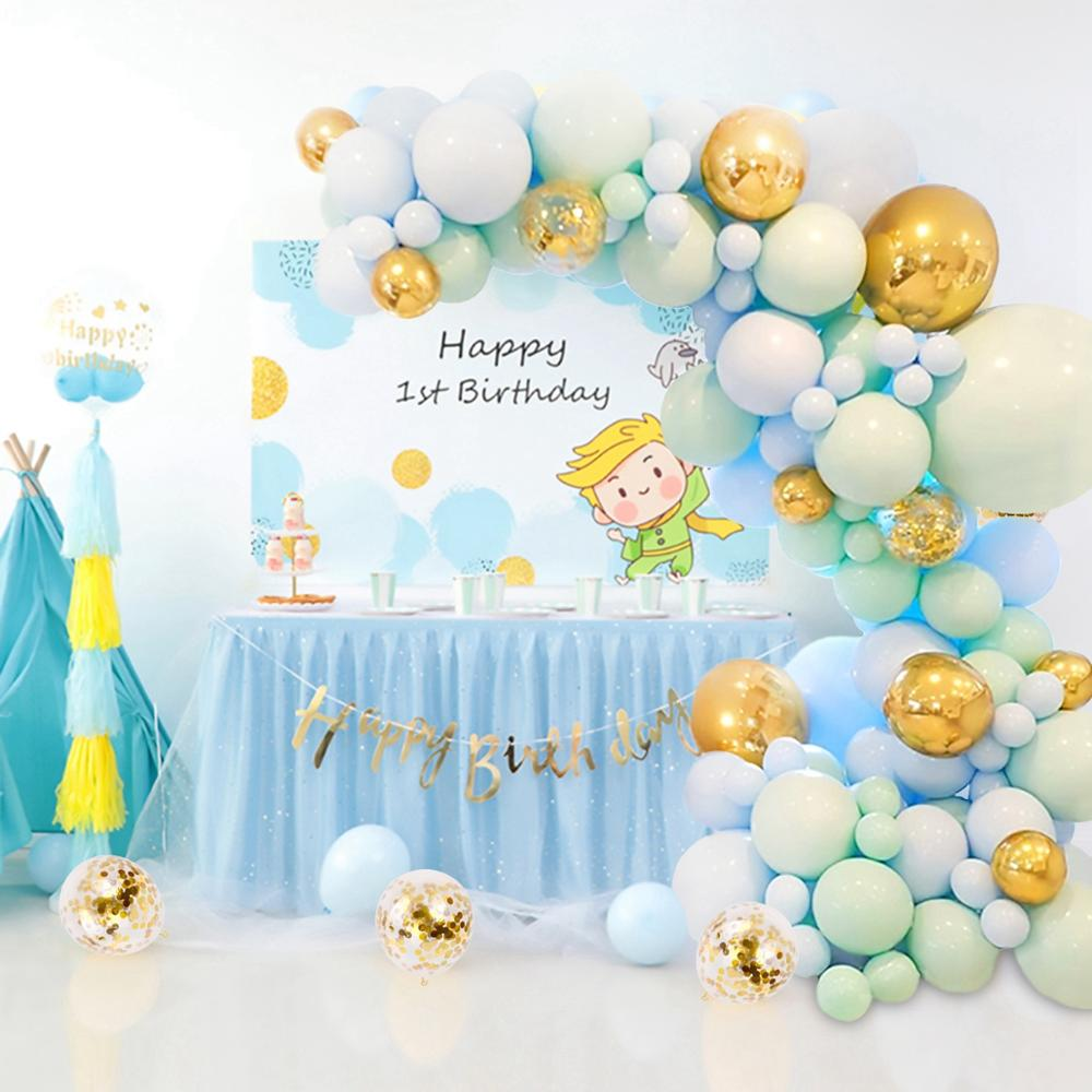 108pcs Green Gold Macaron Balloon Garland Arch Foil Balons Wedding Party Supplies Baby Shower Birthday Party Decor Kids Adult-5