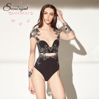 EASYSMALL sexy push up bra lingerie bralett soutien gorge femme modis Underwear plus size women embroidery Bikini Swimsuit