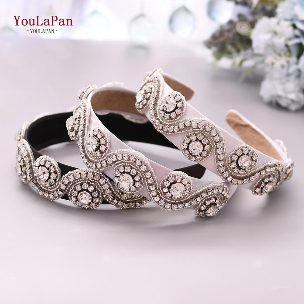 YouLaPan S10-FG Fashion Luxury Sparkly Rhinestone Headband Bridal Stone Hairband  Women Hair Accessories Baroque Hair Band