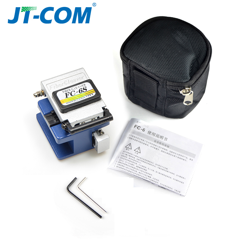 12pcs Fiber Optic FTTH Tool Kit with FC-6S Fiber Cleaver and Optical Power Meter Visual Fault Locator 30km Cable Wire Stripper