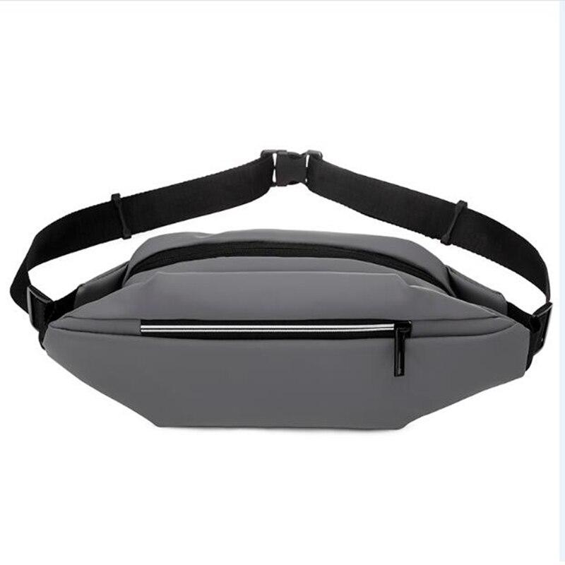 Men Nylon Waist Bags Fanny Pack Belt Waist Packs Laser Chest Phone Pouch