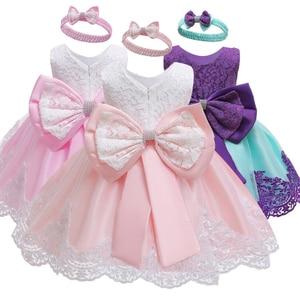 Summer Dress for Children Flower Girls Dress Party Wedding Dress Elegent Princess Vestidos 2 4 6 8 10 12 Years(China)