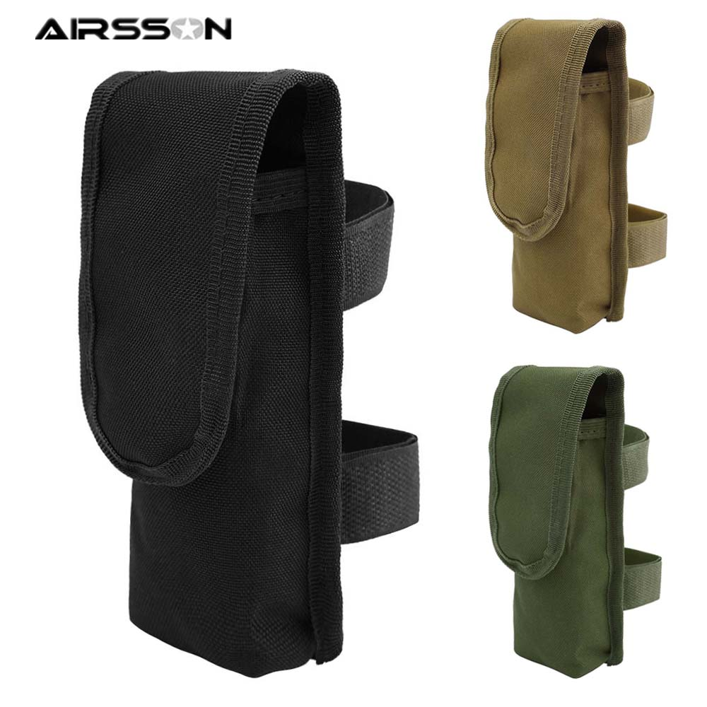 Tactical External Battery Pouch Portable Molle Sport Pouches Universal Hunting Durable Nylon Military Paintball Battery Holder