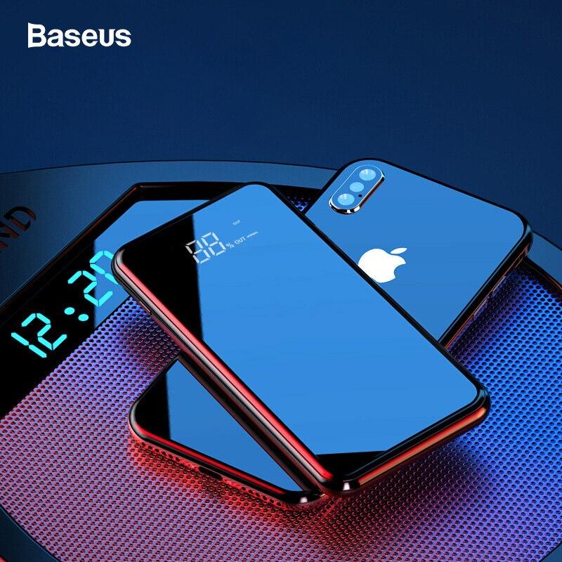 Baseus портативное Qi Беспроводное зарядное устройство для iPhone 11 Xiaomi mi 8000mAh Внешняя батарея быстрая Беспроводная зарядка Powerbank