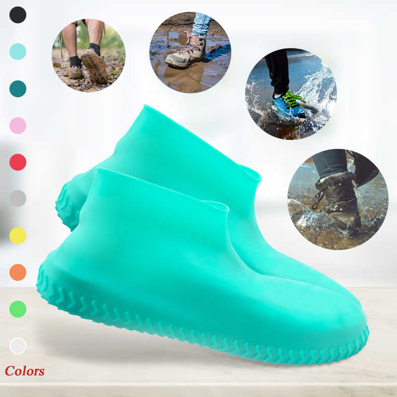 Waterproof Reusable Anti-Slip Durable Unisex Rain Snow Shoe Cover Overshoes